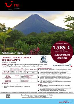 1.385 € - Viajes Ojeda