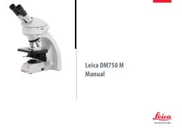 Leica DM750 M Manual