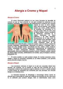 Alergia a Cromo y Níquel
