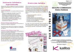 FAX 976 794 467 - Kalibo Correduria de Seguros