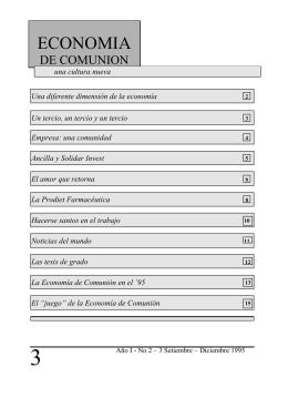 Empresa - Economia di Comunione - Tesi on-line