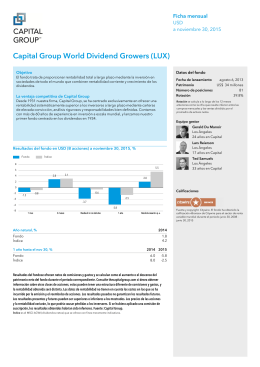 Capital Group World Dividend Growers (LUX)