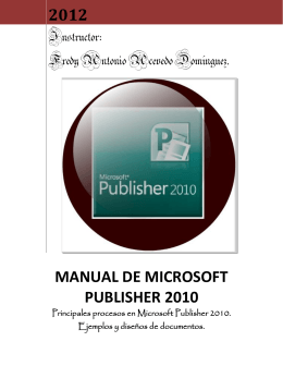 Manual Publisher 2010