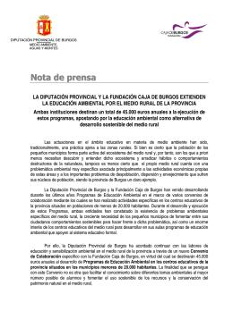 Nota de prensa - Diputación de Burgos
