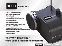 TBCTMWP Controller