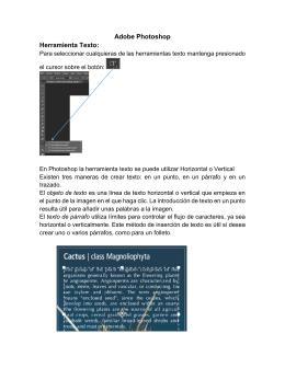 tutorial herramienta texto y mascara de recorte