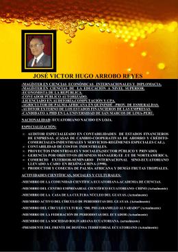JOSÉ VICTOR HUGO ARROBO REYES