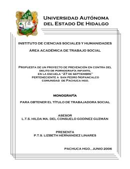 Universidad Autónoma del Estado De Hidalgo - RIA