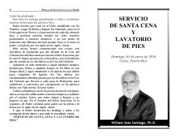 SERVICIO DE SANTA CENA Y LAVATORIO DE PIES