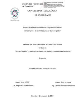 Manejo Integrado - Universidad Tecnológica de Querétaro