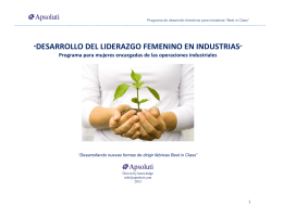 desarrollo del liderazgo femenino en industrias