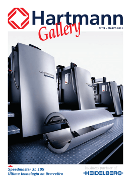 Hartmann Gallery Speedmaster XL 105 Última tecnología en tira