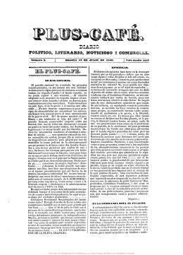 Plus-Café : Diario político, literario, noticioso i comercial N°3