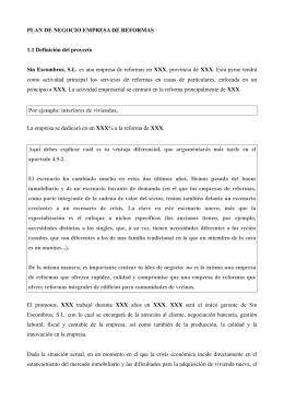 PLAN DE NEGOCIO EMPRESA DE REFORMAS