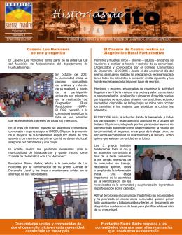 Historias de éxito de Sierra Madre. Enero/Marzo 2008