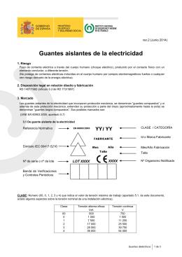 Guantes dieléctricos
