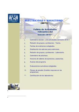 Folleto EyM 2010-1 - División de Ciencias Básicas