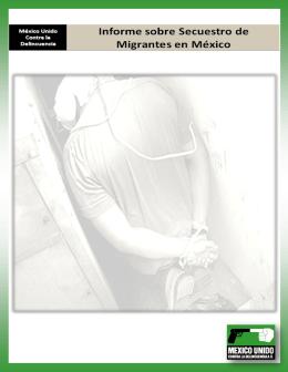 Informe de Secuestro de Migrantes en México