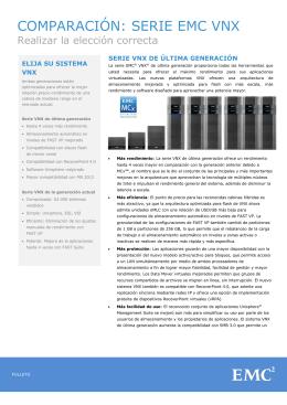 COMPARACIÓN: SERIE EMC VNX