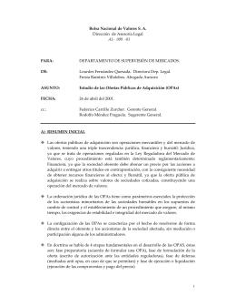Archivo - Bolsa Nacional de Valores