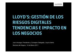 lLOYD`S: GESTIÓN DE LOS RIESGOS DIGITALES TENDENCIAS E