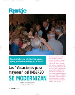 SE MODERNIZAN - Revista 60 y más