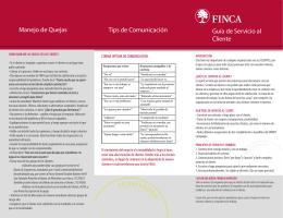 Guía de Servicio al Cliente Manejo de Quejas Tips de
