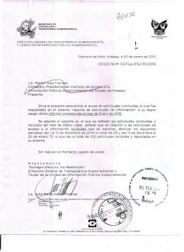 Enero - Transparencia - Gobierno del Estado de Hidalgo