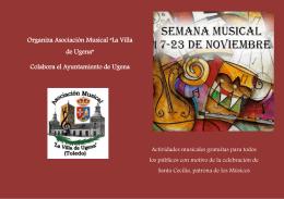 """Organiza Asociación Musical """"La Villa de Ugena"""""""