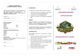CAMINOS DEL MERCOSUR - Dirección de Educación