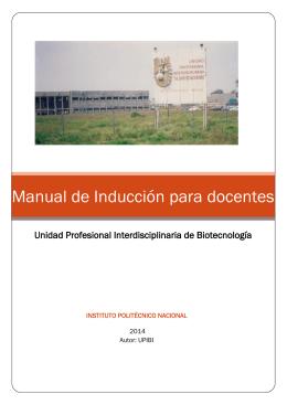 Manual de Inducción para docentes - Upibi