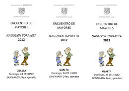 Folleto Encuentro de mayores 2012