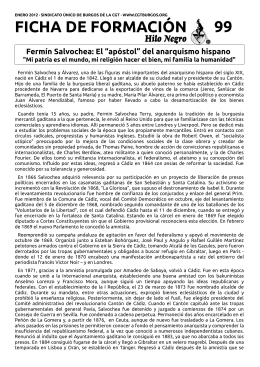 Ficha 99. Enero 2012. Fermín Salvochea