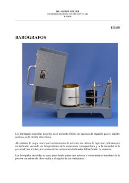 barógrafos - R.Fuess - Dr.A.Müller