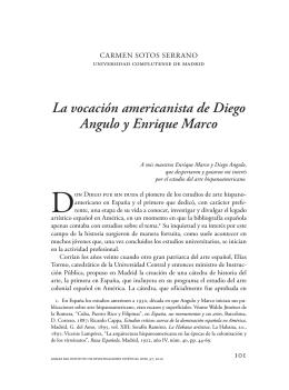 La vocación americanista de Diego Angulo y Enrique Marco