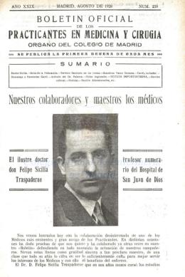Año XXIX. Nº. 239 Agosto 1928