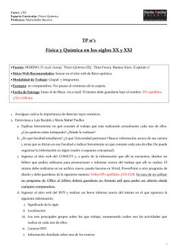TP n°1 Física y Química en los siglos XX y XXI