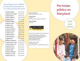 Pre-kinder público en Maryland - Maryland State Department of