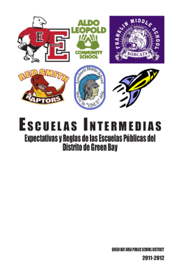 ESCUELAS INTERMEDIAS - Green Bay Area Public School District