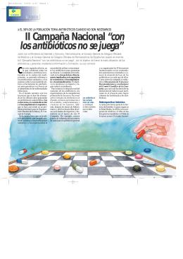 """II Campaña Nacional """"con los antibióticos no se juega"""""""