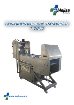 Folleto Cortadora Ultrasonidos T