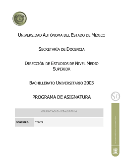 PROGRAMA DE ASIGNATURA - Universidad Autónoma del Estado