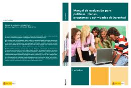 Manual de evaluación para políticas, planes
