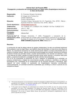 Informe final* del Proyecto M093 Propagación y