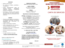 Carta de servicios Biblioteca 2013