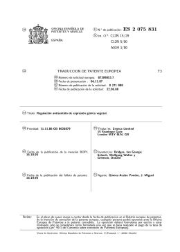 REGULACION ANTISENTIDO DE EXPRESION GENICA VEGETAL