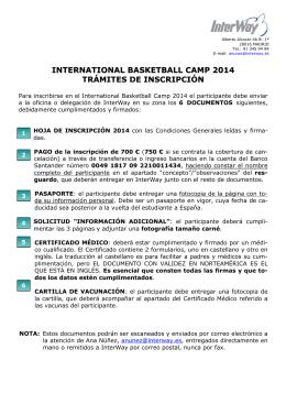 international basketball camp 2014 trámites de inscripción