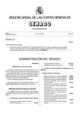 ADMINISTRACIÓN DEL SENADO