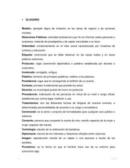 • GLOSARIO Modelo: ejemplar digno de imitaciєn en las obras de