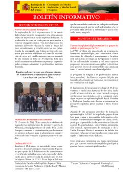 Boletín informativo. Febrero 2011